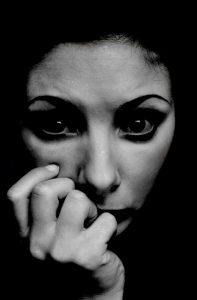 woman nervous
